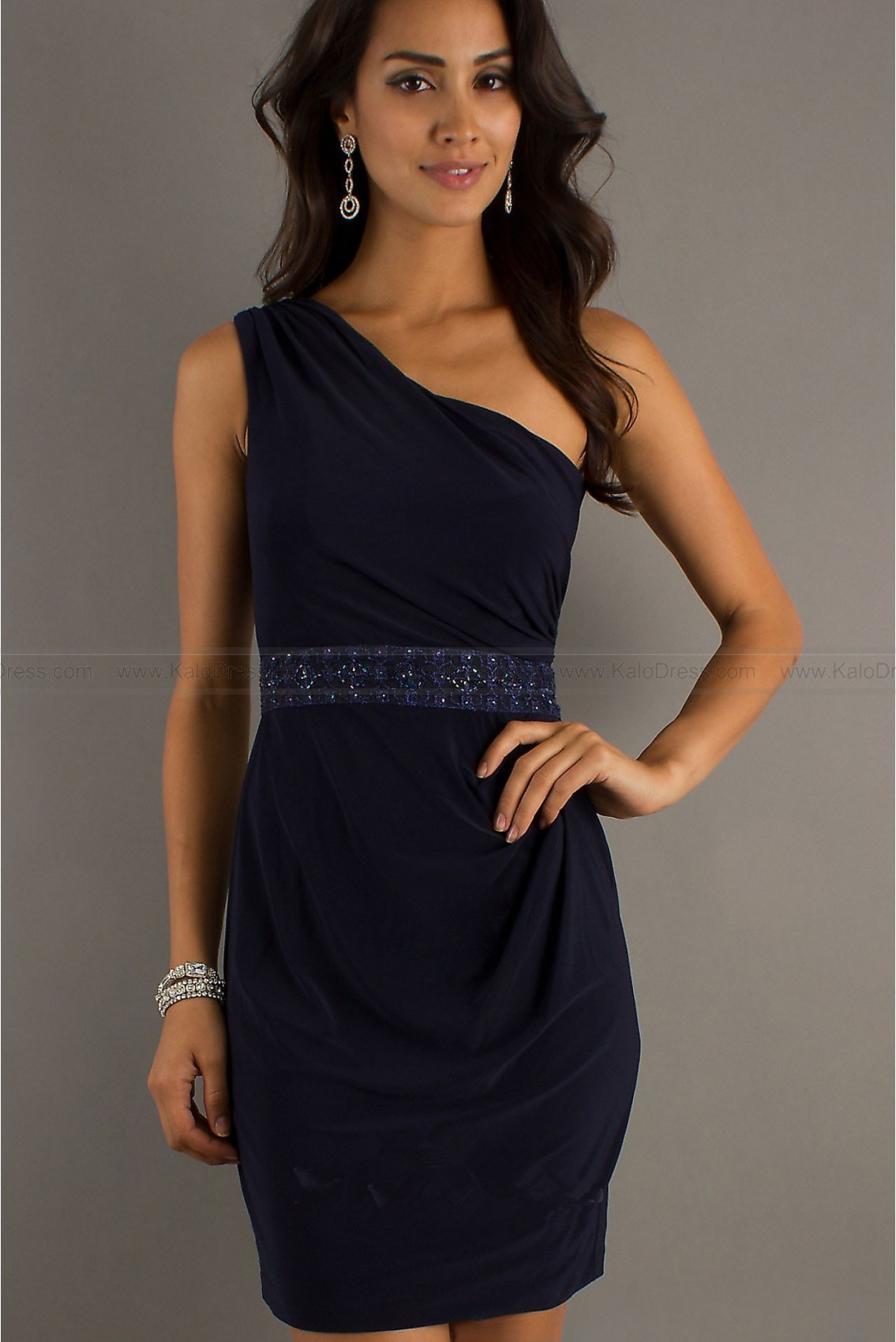 Sheath/Column One Shoulder Chiffon Prom Dress - Cocktail Dresses - Special Occasion