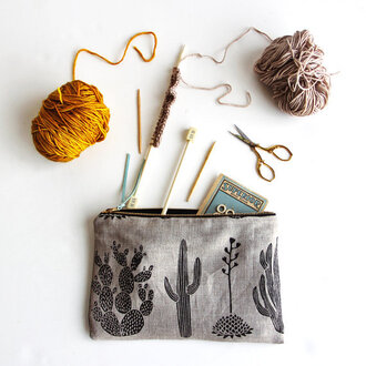 bag pouch cactus hipster