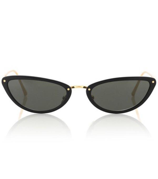 Linda Farrow 709 C1 cat-eye sunglasses in black
