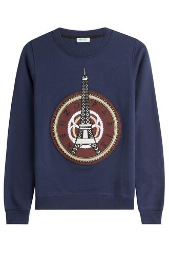 sweatshirt statement cotton blue sweater