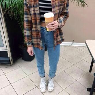 jacket plaid shirt brown plaid shirt