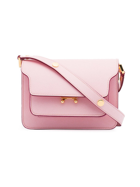 MARNI women bag shoulder bag leather purple pink