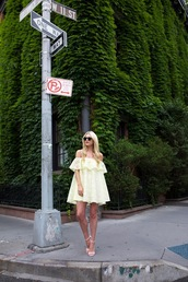atlantic pacific,blogger,lemongrass,off the shoulder dress