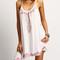 White keyhole back tribe print asymmetric cami dress
