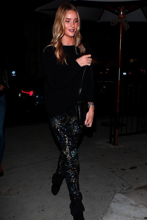 pants leggings rosie huntington-whiteley sweater fall outfits