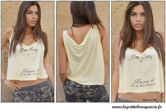 crop tops top tank top top crop white summer dress summer top sexy sweaters style fashion la petite bourgeoisie french brand