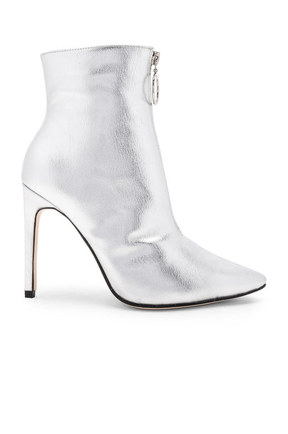 RAYE metallic silver shoes