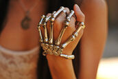 jewels,skeleton,hipster,bones,metal,bracelets,skull ring,metallic