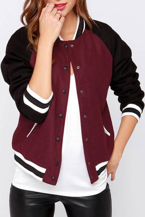 Jacket: black, baseball tee, baseball jacket, teddy jacket, urban ...