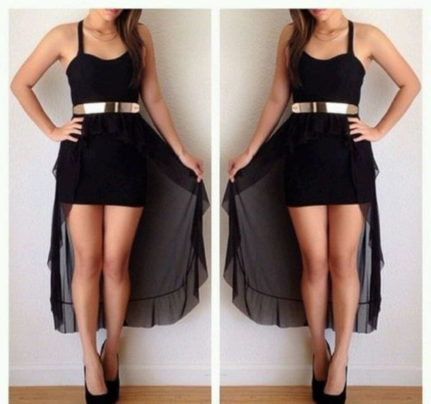 dress short to long high low dress