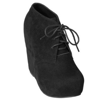 Amazon.com: Brinley Co Womens Lace-up Wedge Bootie: Shoes