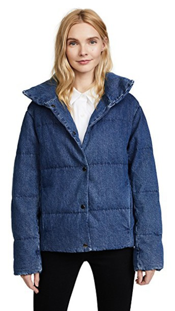 Prps jacket puffer jacket denim quilted blue