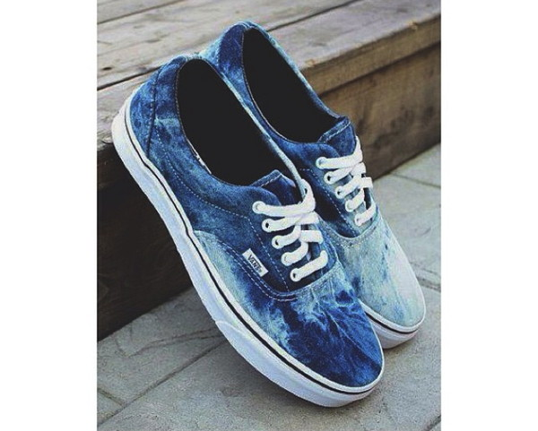 shoes vans light blue blue tie dye tumblr tumblr girl tumblr shoes