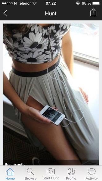 maxi skirt sidecut