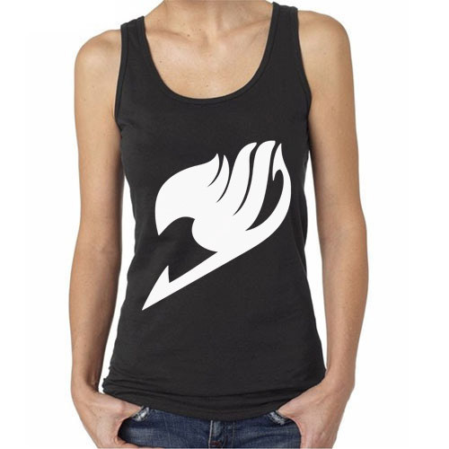 New Rare Anime Fairy Tail Guild Mark Cosplay Unisex Black Tank Top Sleeveless