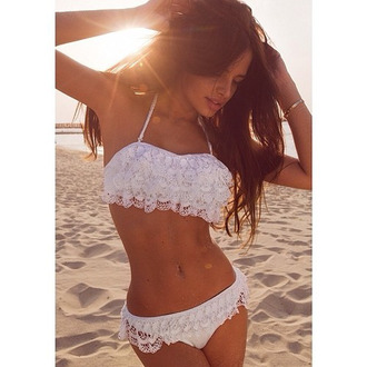 swimwear rose wholesale lace white white top lace bikini lace dress trendy boho cute girly wishlist style