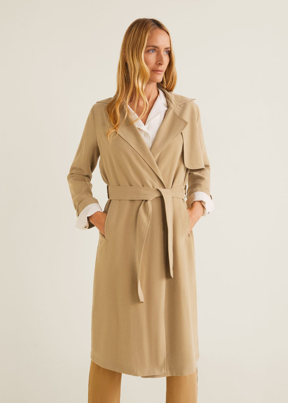 Classic trench with bows - Women | Mango United Kingdom