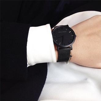 jewels watch black minimalist minimalist jewelry black watch