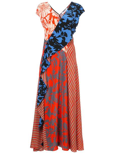 Dvf Diane Von Furstenberg dress women draped silk red