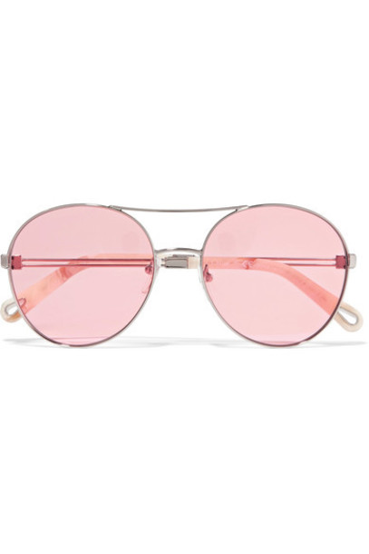 style sunglasses gold pink