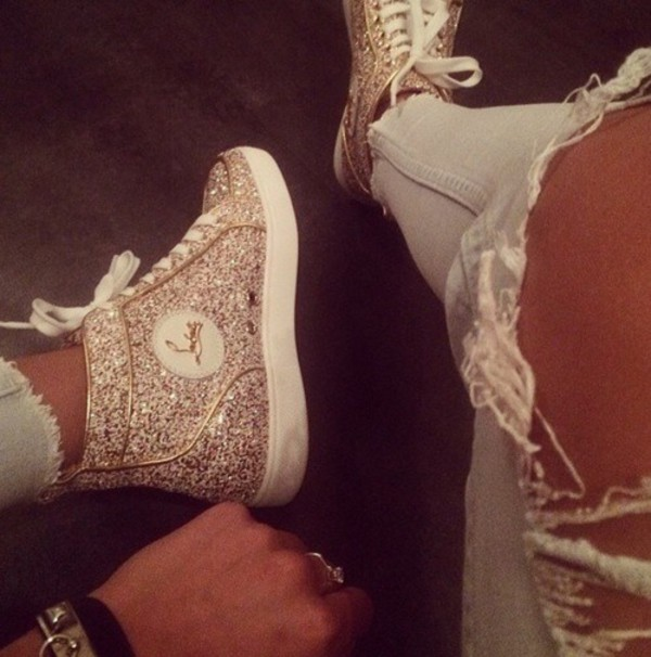 online store fb964 66c85 Christian Louboutin Bip Bip High-Top Sneakers at Barneys.com