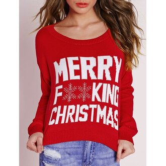 sweater red sweater red christmas christmas sweater rose wholesale trendy hipster
