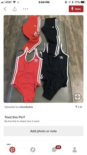 shirt,adidas,red,black,stripes,bodysuit