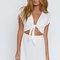 Wendy tie front dress white