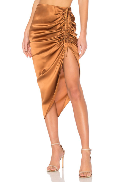CAMI NYC skirt metallic bronze