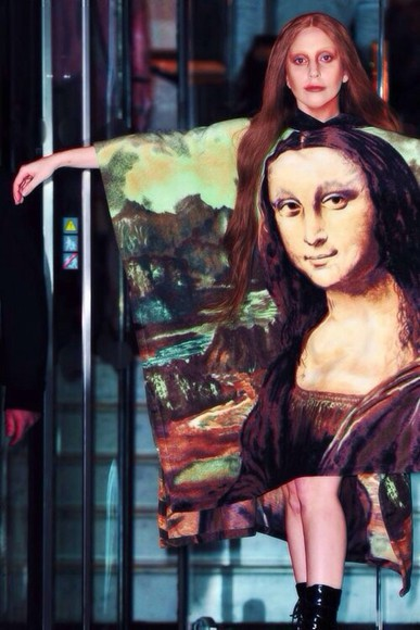 lady gaga dress mona lisa leonardo da vinci art stylish little monster mother monster