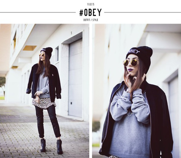mexiquer blogger beanie baseball jacket winter swag grey sweater sunglasses