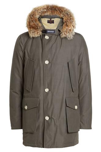 parka fur grey coat