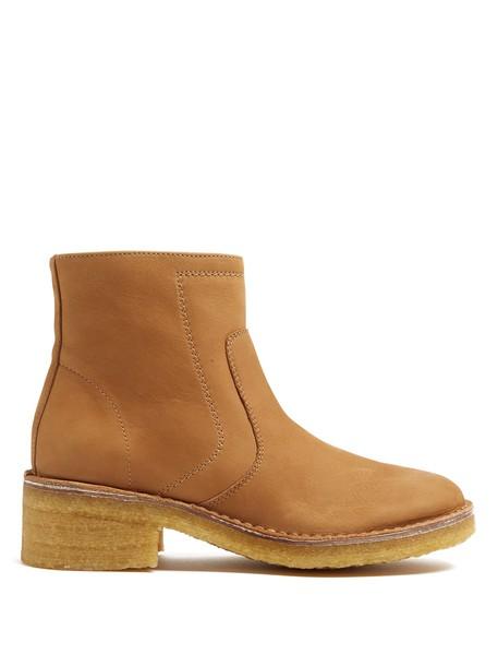 A.P.C. ankle boots tan shoes