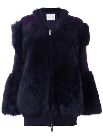 jacket fur jacket fur women cotton blue wool