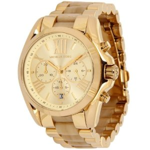 Amazon.com: Michael Kors MK5722 WBradshaw Gold and Horn Watch: Michael Kors: Watches