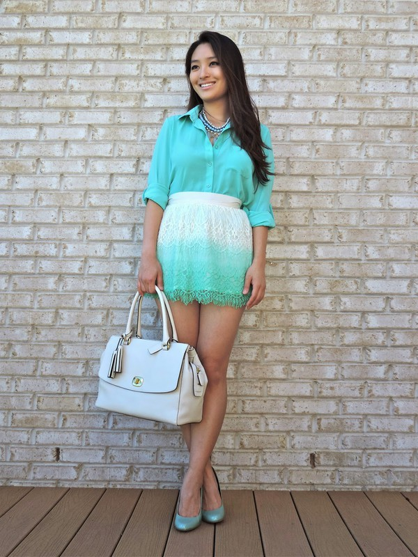 sensible stylista blouse jewels skirt shoes bag
