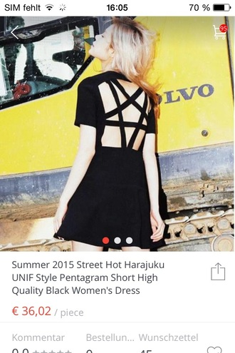 dress pentagram black dress g goth gothic lolita gothic dress gothic high-low dresses