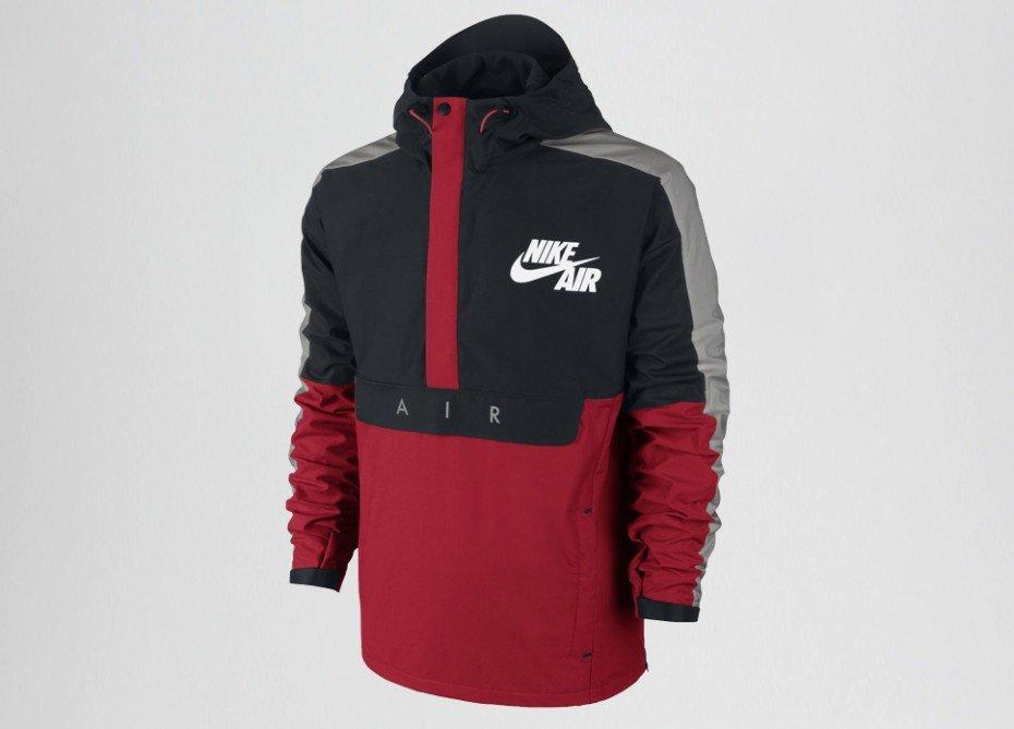 nike bb heritage half zip jacket university red black. Black Bedroom Furniture Sets. Home Design Ideas