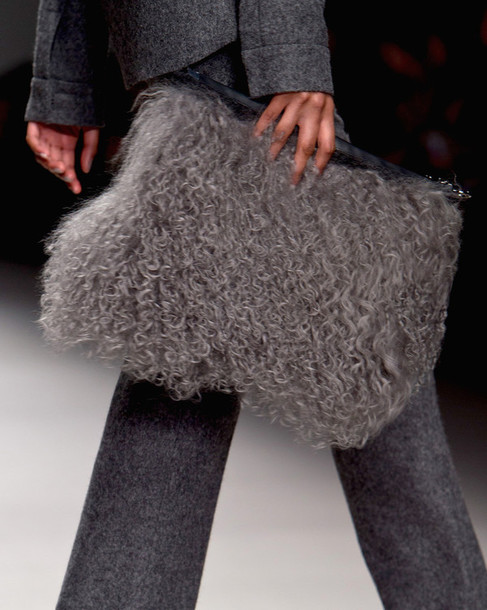bag purse fur accessories fashion week 2015 fluffy texture