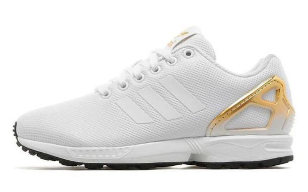 adidas zx flux white gold