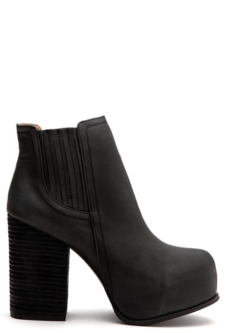 shoes boots booties leather black jeffrey campbell