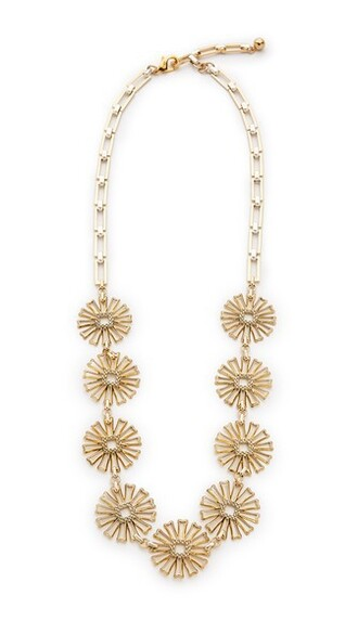 long necklace long daisy necklace gold silver jewels