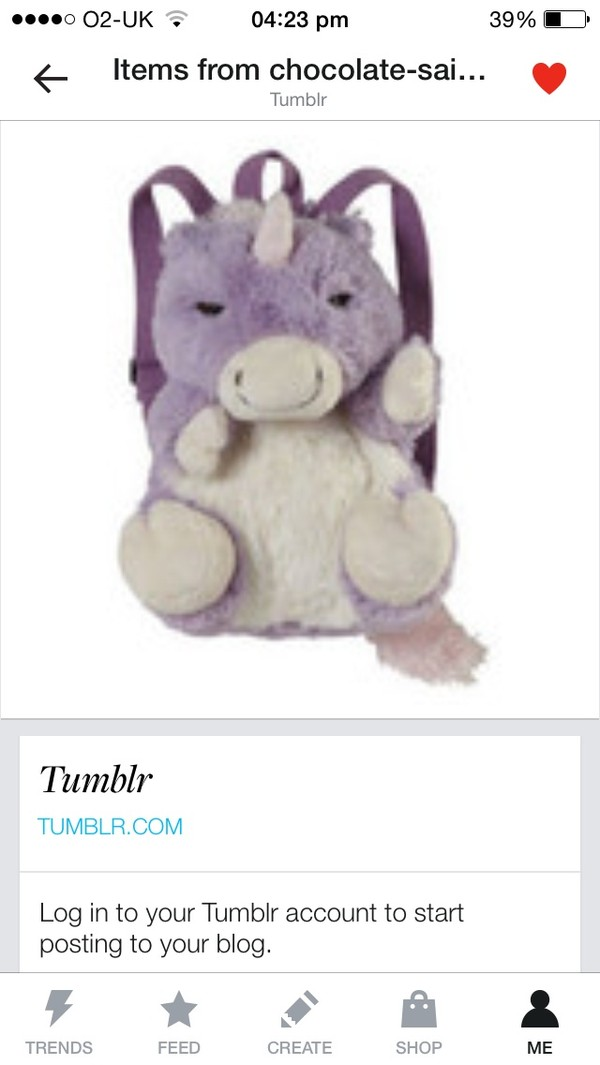 bag purple stuffed animal backpack unicorn