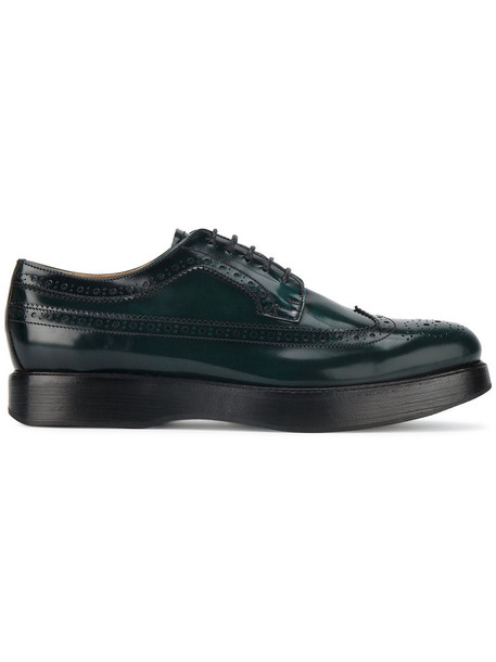 Church's women opal leather green shoes