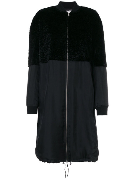 McQ Alexander McQueen jacket bomber jacket long women cotton black