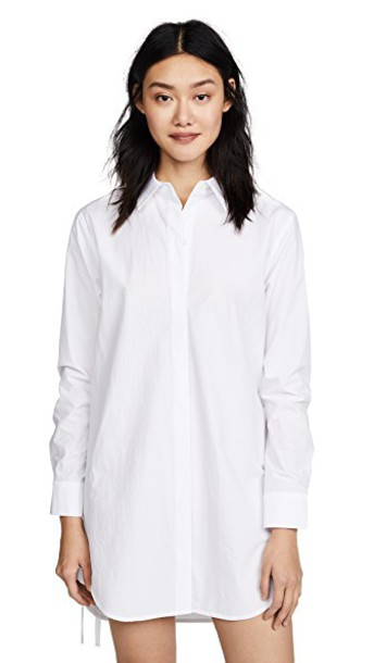 T by Alexander Wang shirtdress long white dress