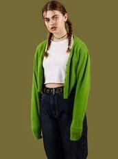 cardigan,green,sweater,unif