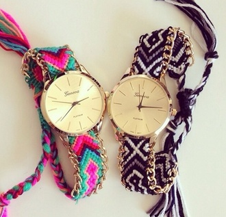 jewels watch gold geneva girly wishlist