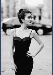 dress,black,classic,beautiful,gorgeous,black and white,b&w,bodycon,bodycon dress,elegant,black dress,little black dress,vintage,1960s,50s style,formal dress,sleeveless dress,prom dress,homecoming dress,audrey hepburn,classy