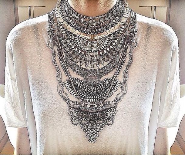 jewels necklace silver statement necklace chain crystal swarovski swarovski necklace handmade boho chic jewelry choker necklace